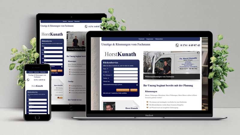 Website Horst Kunath